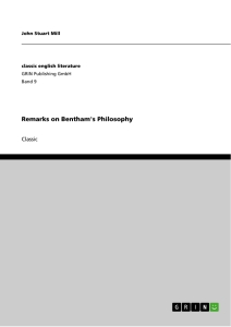 Title: Remarks on Bentham's Philosophy