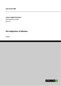 Title: The Subjection of Women