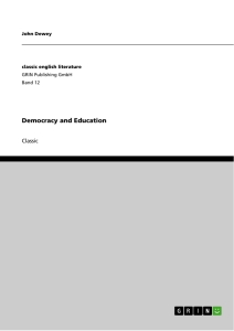 Title: Democracy and Education