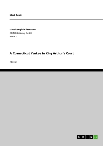 Title: A Connecticut Yankee in King Arthur's Court
