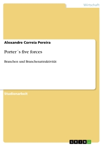 Titel: Porter´s five forces