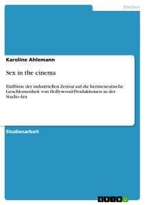 Title: Sex in the cinema