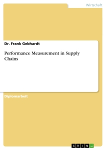 Title: Performance Measurement in Supply Chains
