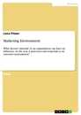Titel: Marketing Environment