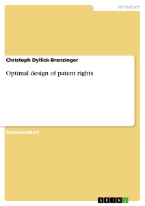 Titel: Optimal design of patent rights