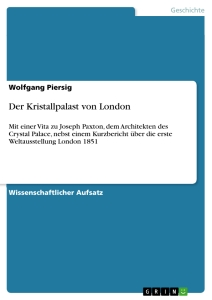 Titel: Der Kristallpalast von London