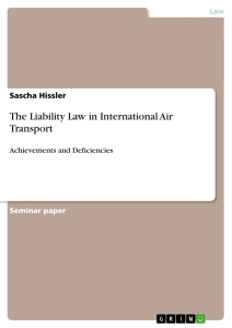 Title: The Liability Law in International Air Transport