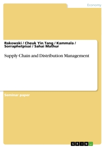 Title: Supply Chain and Distribution Management