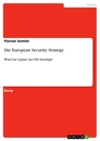 Title: Die European Security Strategy