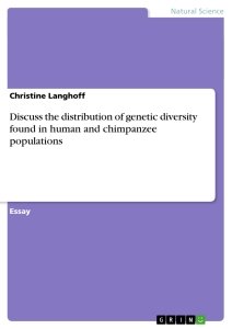 Title: Discuss the distribution of genetic diversity found in human and chimpanzee populations