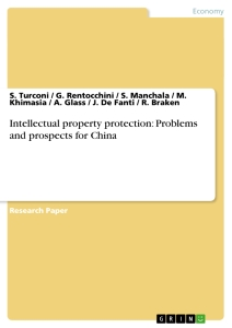 Titel: Intellectual property protection: Problems and prospects for China