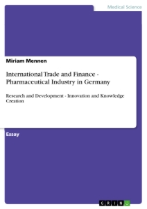 Title: International Trade and Finance - Pharmaceutical Industry in Germany