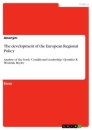Title: The development of the European Regional Policy