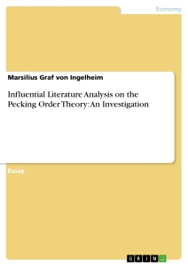Title: Influential Literature Analysis on the Pecking Order Theory: An Investigation