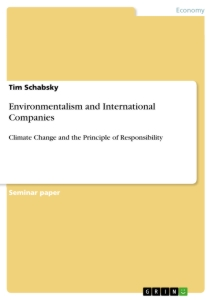 Title: Environmentalism and International Companies