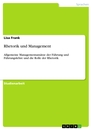 Title: Rhetorik und Management