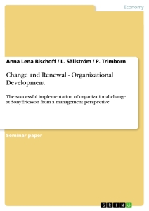 organizational development change term paper