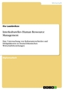 Title: Interkulturelles Human Ressource Management