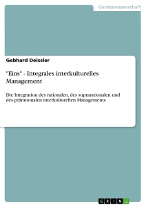 "Title: ""Eins"" - Integrales interkulturelles Management"