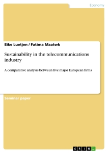 Title: Sustainability in the telecommunications industry