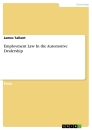 Title: Employment Law In the Automotive Dealership