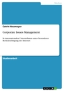 Titel: Corporate Issues Management
