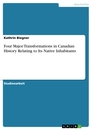 Titel: Four Major Transformations in Canadian History Relating to Its Native Inhabitants