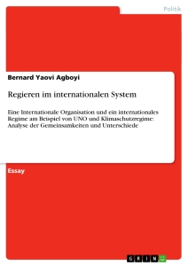 Titel: Regieren im internationalen System