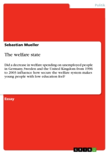Titel: The welfare state