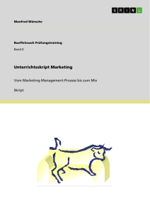 Titel: Unterrichtsskript Marketing