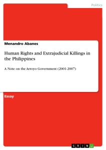 Title: Human Rights and Extrajudicial Killings in the Philippines