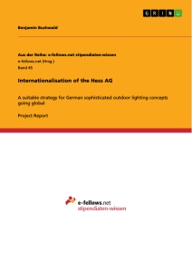 Titel: Internationalisation of the Hess AG