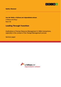 Title: Leading Through Transition