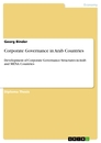 Titel: Corporate Governance in Arab Countries