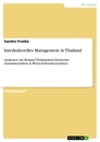 Title: Interkulterelles Management in Thailand