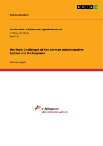 Title: The Main Challenges of the German Administrative System and Its Response