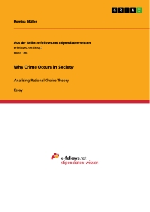 Title: Why Crime Occurs in Society