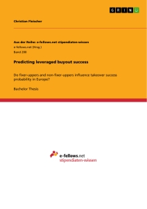 Titel: Predicting leveraged buyout success