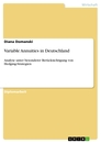 Title: Variable Annuities in Deutschland
