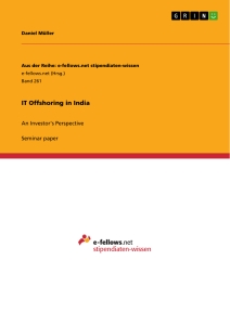 Titel: IT Offshoring in India