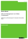 Title: Lifecycle Management von Online Communities
