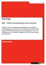 Titel: BBI – Berlin Brandenburg International