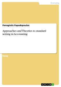 Title: Approaches and Theories to standard setting in Accounting