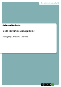 Title: Welt-Kulturen Management