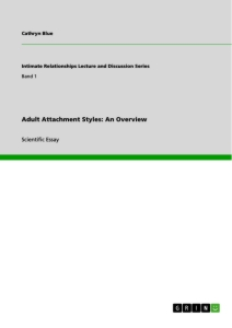 Title: Adult Attachment Styles: An Overview