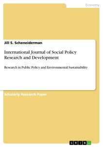 Titel: International Journal of Social Policy Research and Development