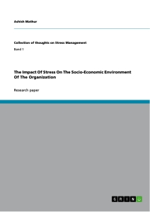 Title: The Impact Of Stress On The Socio-Economic Environment Of The Organization