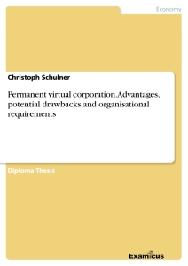 Title: Permanent virtual corporation. Advantages, potential drawbacks and organisational requirements