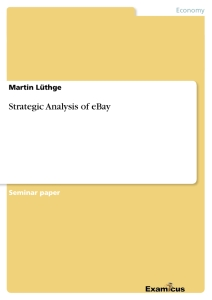 Titre: Strategic Analysis of eBay