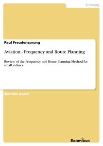 Titre: Aviation - Frequency and Route Planning
